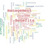 Benefits management word cloud