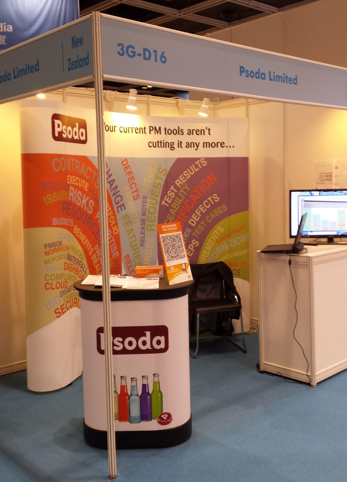 Psoda stand at the Hong Kong ICT Expo
