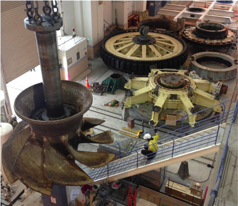 Turbines from the Waitaki Hydro Station