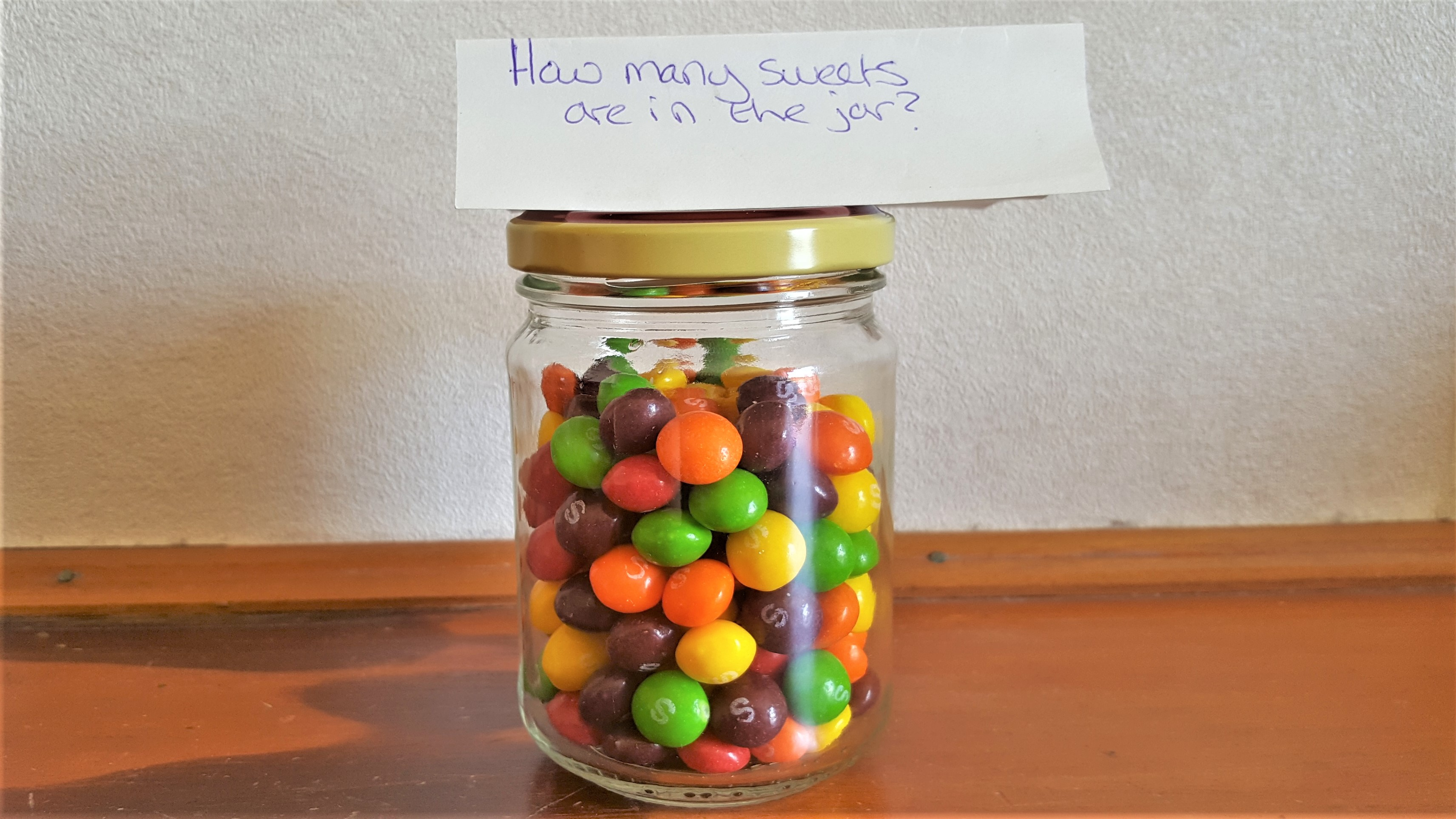 estimate the number of sweets in the jar