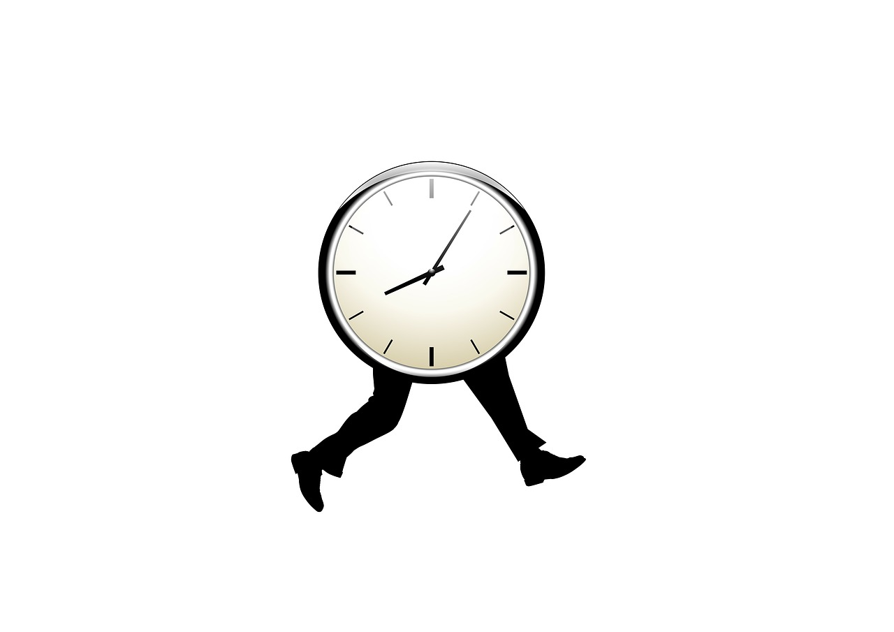 Time stress: a clock with legs
