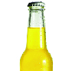 Psoda home page - portfolio management module, glass drink bottle with yellow liquid inside