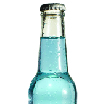 Psoda home page - product management module, glass drink bottle with pale blue liquid inside