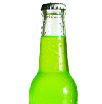 Psoda home page - requirements management module, glass drink bottle with bright green liquid inside
