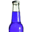 Psoda home page - test management module, glass drink bottle with purple liquid inside