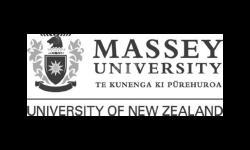 Massey University logo grey