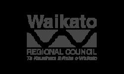 Waikato Regional Council logo grey